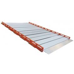 Rampe de seuil  enroulable en aluminium