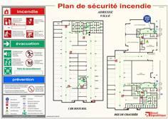 Plan de sécurité incendie (anciennement Évacuation) en PVC