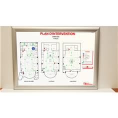 Plan d´intervention PVC avec cadre aluminium