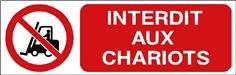 Interdit aux chariots - STF 3109S