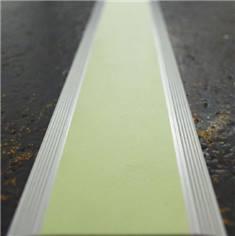 Profil plat alu photoluminescent auto-adhésif - Long 1000 mm - Intérieur