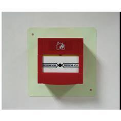 Cadre photoluminescent PVC pour repérage d´alarme incendie