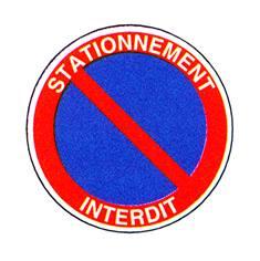 Panneau Stationnement interdit avec texte - R25