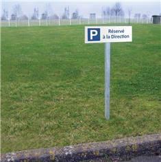 Panneau de parking réservé à la direction - H 150 x L 450 mm - Alu dibond 2 mm