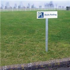 Panneau d´accès au parking PMR - H 150 x L 450 mm - Alu dibond 3 mm