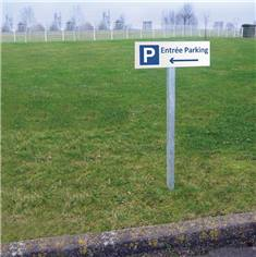 Kit de panneau de vers la gauche Entrée Parking sur poteau