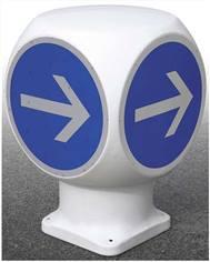 Balise B21 4 faces obligation pour sens giratoire