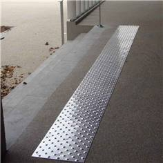 Dalle podotactile en Aluminium - 800 x 420 mm - Intérieur/extérieur