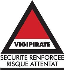 Panneau Vigipirate - Niveau Sécurité renforcée Risque Attentat