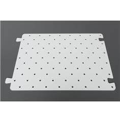 Gabarit de perçage pour clous podotactiles en PVC de 5 mm - 600 x 400 mm