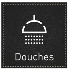 Plaque de Porte Douches - H110 x L110 mm - Gamme Dark cuir