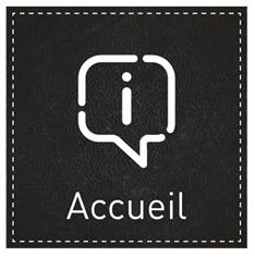 Plaque de Porte Accueil - H110 x L110 mm - Gamme Dark cuir