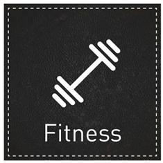 Plaque de Porte Fitness - H110 x L110 mm - Gamme Black cuir