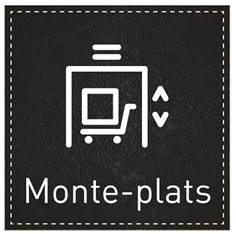 Plaque de Porte Monte-plats - H110 x L110 mm - Gamme Black cuir