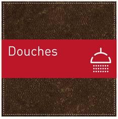 Plaque de Porte Douches - H110 x L110 mm - Gamme Brown cuir
