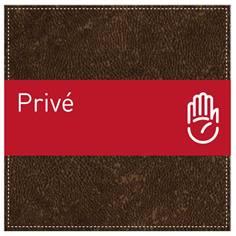 Plaque de Porte Privé - H110 x L110 mm - Gamme Brown cuir