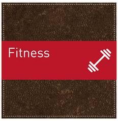 Plaque de Porte Fitness - H110 x L110 mm - Gamme Brown cuir