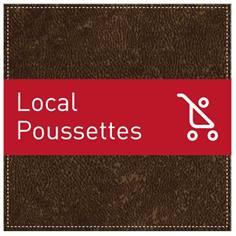 Plaque de Porte Local poussettes - H110 x L110 mm - Gamme Brown cuir