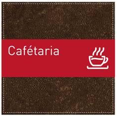 Plaque de Porte Cafétériat - H110 x L110 mm - Gamme Brown cuir