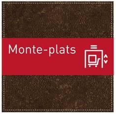 Plaque de Porte Monte-plats - H110 x L110 mm - Gamme Brown cuir