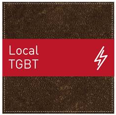 Plaque de Porte Local TGBT - H110 x L110 mm - Gamme Brown cuir