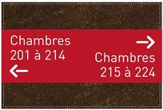 Panneau de direction - H 200 x L 300 mm - Gamme Brown cuir