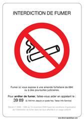 Nouveau Panneau officiel interdiction de fumer