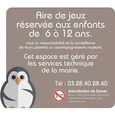 Panneau aire de jeux H 600 x L 650 mm - Pingouin