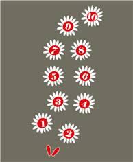 Jeu thermocollant Fleurs - 2300 x 1680 mm