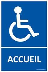 Panneau Accueil Handicapés