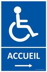 Panneau Accueil Handicapésà droite
