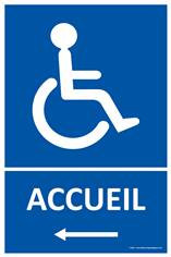 Panneau Accueil Handicapés à gauche
