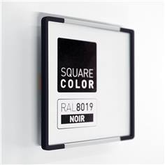 Plaque de porte Embouts noirs  - Square Color