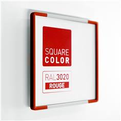 Plaque de porte Embouts rouge  - Square Color