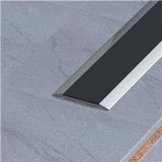 Profil plat en aluminium anodisé - Long 3000 x Larg 30  mm - Intérieur / Extérieur