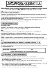 Consignes de sécurité au personnel d´encadrement électrique - H 500 x L 350 mm