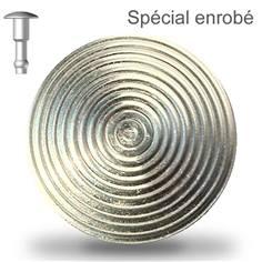 Clou podotactile pour Enrobé en acier zingué sans scellement - Extérieur