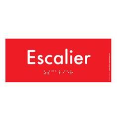 Plaque de Porte Pop Art® en plexi - Escalier - Texte en relief - H70 x L170 mm