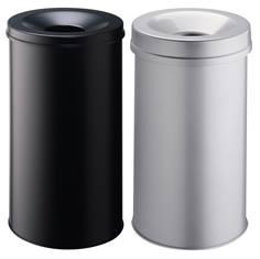 Corbeille à papier ronde avec couvercle étouffoir - 62 litres
