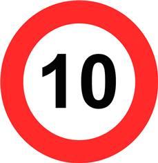 Panneau Limitation de vitesse 10 km/h - B14