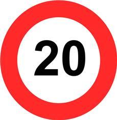 Panneau Limitation de vitesse 20 km/h - B14