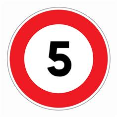Panneau Limitation de vitesse 5 km/h - R31-05