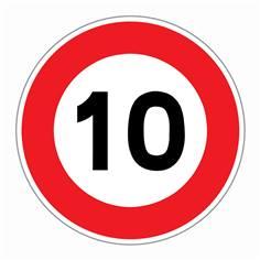 Panneau Limitation de vitesse 10 km/h - R31-10