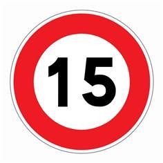 Panneau Limitation de vitesse 15 km/h - R31-15