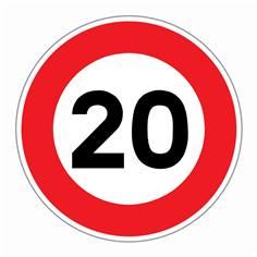 Panneau Limitation de vitesse 20 km/h - R31-20