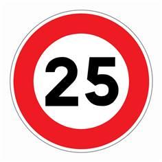 Panneau Limitation de vitesse 25 km/h - R31-25