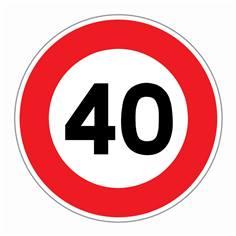 Panneau Limitation de vitesse 40 km/h - R31-40