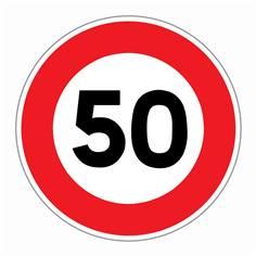 Panneau Limitation de vitesse 50 km/h - R31-50