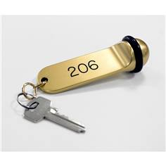 Porte clé gravé pour hôtel - Gamme boule or