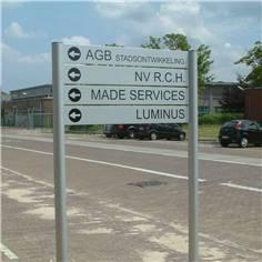Bimât de signalisation en aluminium anodisé naturel